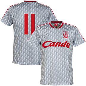 89-91 Liverpool Away Retro Shirt + No. 11