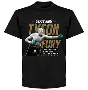 Tyson Fury Heavyweight Champion Picture T-Shirt - Black