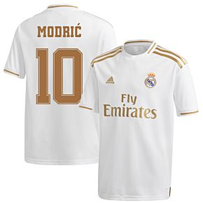 adidas Real Madrid KIDS Home Modric 10 Jersey 2019-2020 (Fan Style Printing)