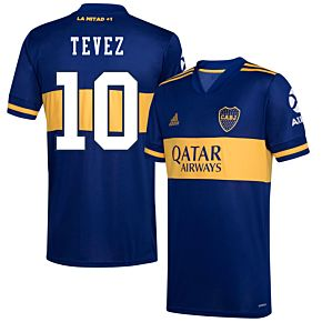 20-21 Boca Juniors Home Shirt+ Tevez 10 (Fan Style)