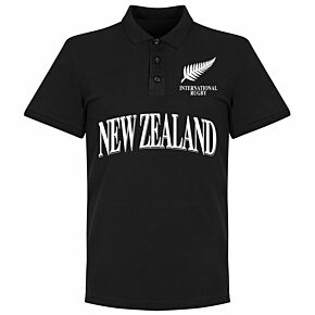 New Zealand Rugby Polo Shirt - Black