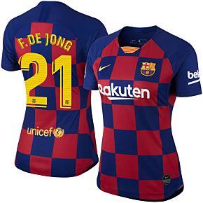 19-20 Barcelona Womens Home Shirt + F.De Jong 21 (official