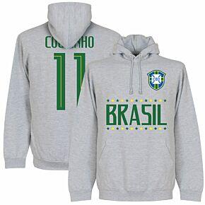 Brazil Coutinho 11 Team Hoodie - Grey