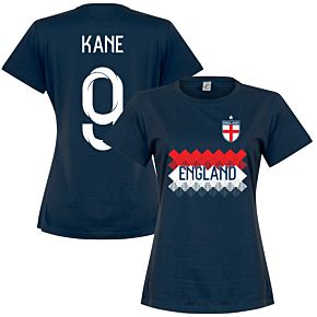 England Kane 9 Team Womens Tee - Navy