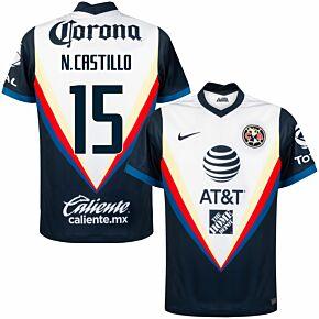 20-21 Club America Away Shirt + N. Castillo 15 (Fan Style)