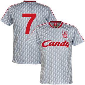 89-91 Liverpool Away Retro Shirt + No. 7