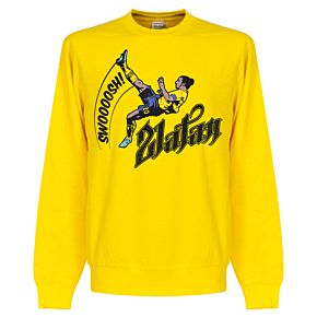 Zlatan Ibrahimovic Bicycle Kick Sweatshirt - Yellow