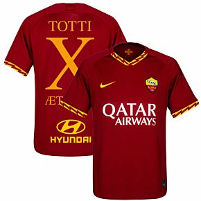 19-20 AS Roma Home Shirt Aeterno X Jersey 2019-2020