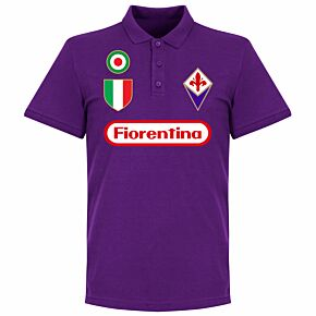 Fiorentina Team Polo Shirt - Purple