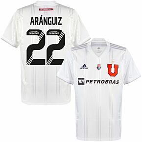 20-21 Universidad de Chile Away Shirt + Aránguiz 22 (Fan Style Printing)