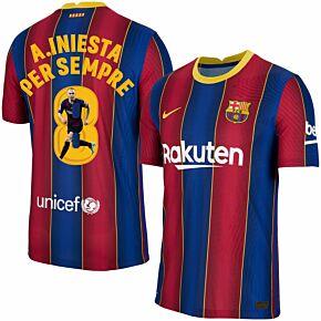 20-21 Barcelona Vapor Match Home Shirt + A.Iniesta Per Sempre 8 (Gallery)