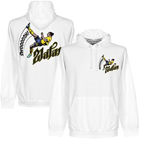 Zlatan Bicycle Kick Hoodie - White