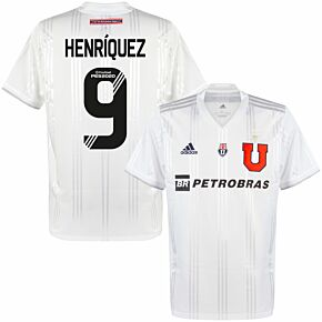 Universidad de Chile Away Shirt + Henríque 9 (Fan Style Printing)