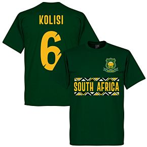 South Africa Rugby Team Kolisi 6 T-shirt - Bottle Green