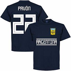 Argentina Pavon 22 Team Tee - Navy