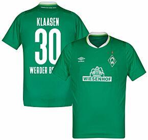 Umbro Werder Bremen Home Klaasen 30 Jersey 2019-2020 (Fan Style Printing)