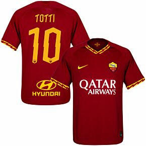 19-20 AS Roma Home Shirt + Totti 10 (Official Printing)