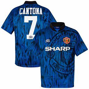 Umbro Manchester United 1992-1993 Away Shirt Cantona No.7 - USED Condition (Fair) - Size XL