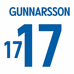Gunnarsson 17 - Iceland Away Official Name & Number 2016 / 2017