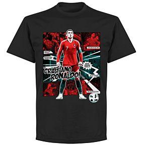 Ronaldo Comic T-Shirt - Black