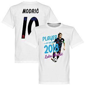 Modric 10 Player of the Year 2018 Tee - White