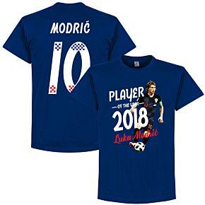 Modric 10 Player of the Year 2018 Tee - Marine Blue