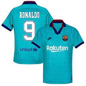 Nike Barcelona 3rd Ronaldo 9 Shirt 2019-2020 (Retro Fan Style Printing)