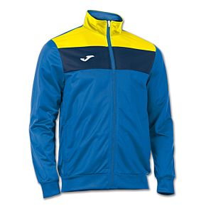 Joma Jacket Polyester Crew - Royal/Yellow