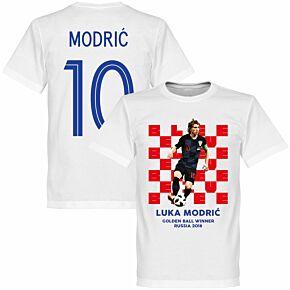 Croatia Modric 10 2018 Golden Ball Winner KIDS Tee - White