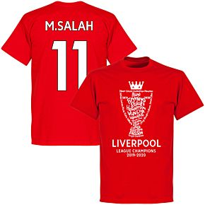 Liverpool 2020 League Champions Trophy M. Salah 11 KIDS T-shirt - Red