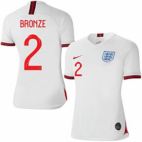 Nike England Womens Home Bronze 2 Jersey 2019-2020 (Fan Style Printing)