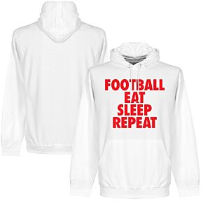 Football Eat Sleep Repeat Hoodie - White