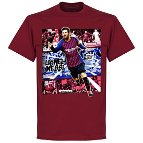 Messi Comic T-Shirt - Chilli Red