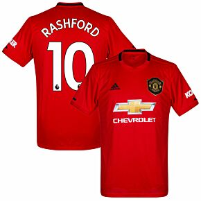 adidas Man Utd Home Rashford 10 Jersey 2019-2020 (Premier League Style Printing)