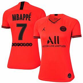 Nike PSG Womens Jordan Away Mbappe 7 Shirt 2019-2020 (Fan Style Printing)