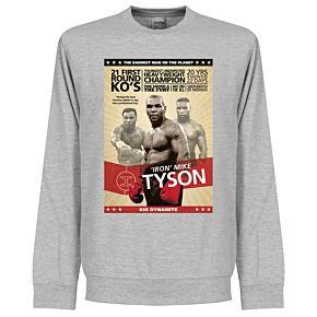 Mike Tyson Poster Sweatshirt - Grey