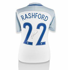 Marcus Rashford Signed England 16-17 Home Shirt (Back Signed)