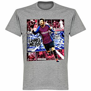 Messi Comic T-Shirt - Grey
