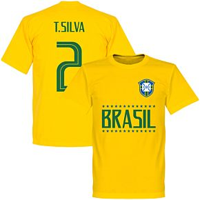 Brazil T. Silva 2 Team T-Shirt - Yellow