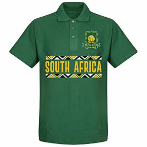 SAfrica Rugby Team Polo Shirt - Bottle Green