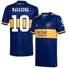 20-21 Boca Juniors Home Shirt+Maradona 10 (Fan Style)