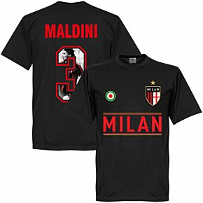AC Milan Maldini 3 Gallery Team Tee - Black