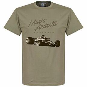 Mario Andretti Tee - Khaki