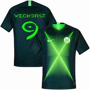 VFL Wolfsburg Home Weghorst 9 Shirt 2019-2020 (Halo Fan Style Printing)