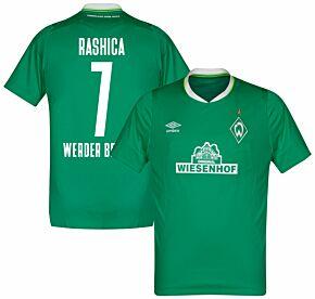 Umbro Werder Bremen Home Rashica 7 Jersey 2019-2020 (Fan Style Printing)