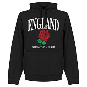 England Rose International Rugby Hoodie - Black