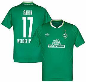 Umbro Werder Bremen Home Sahin 17 Jersey 2019-2020 (Fan Style Printing)