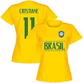 Brasil Team Womens Cristiane 11 Tee - Yellow