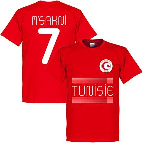 Tunisia Msakni 7 Team Tee - Red