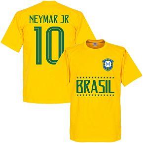 Brazil Neymar Jr 10 Team Tee - Yellow